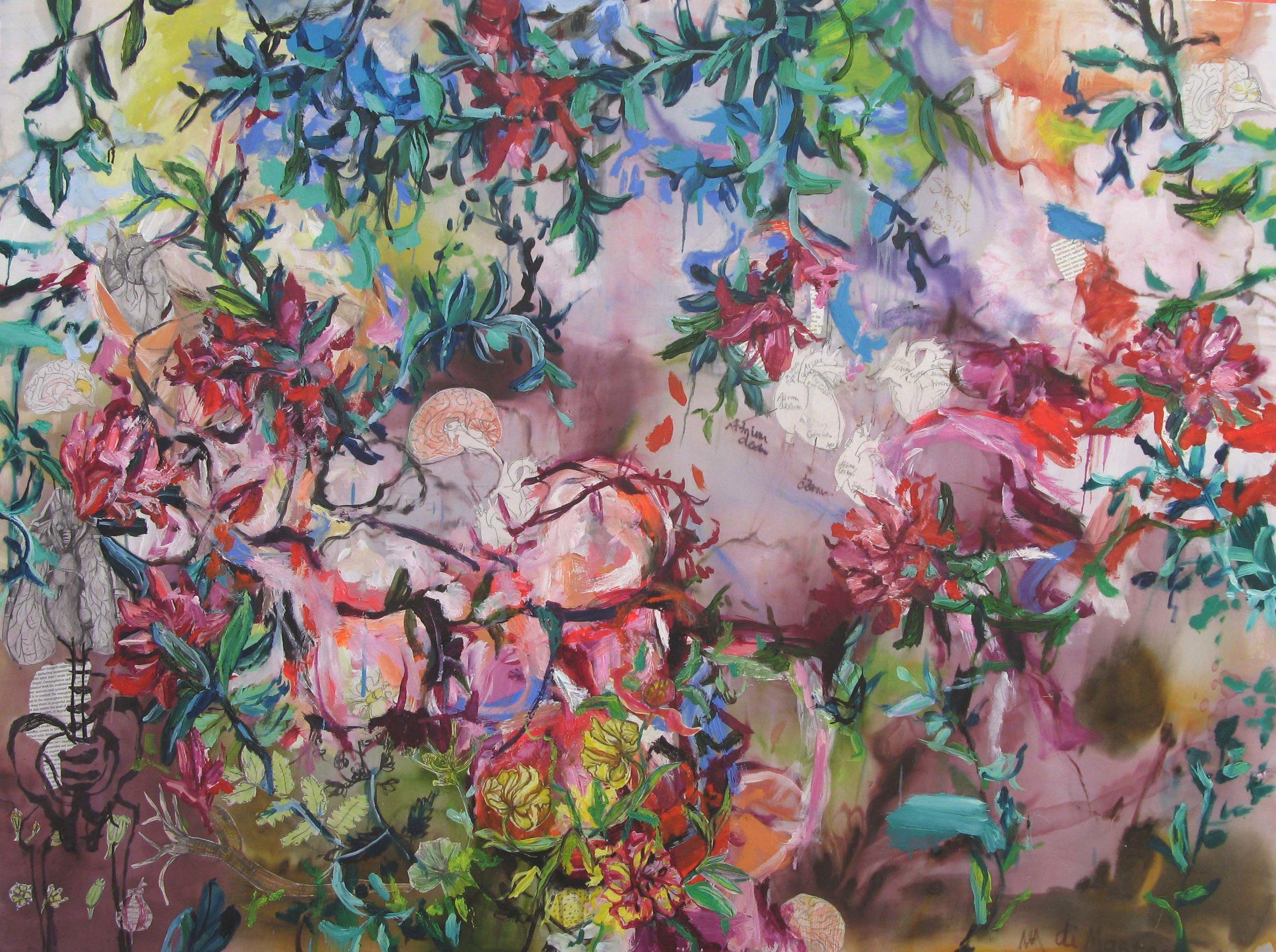 Life tapestries No4, 120x100cm, mixed media on silk, 2018.jpg