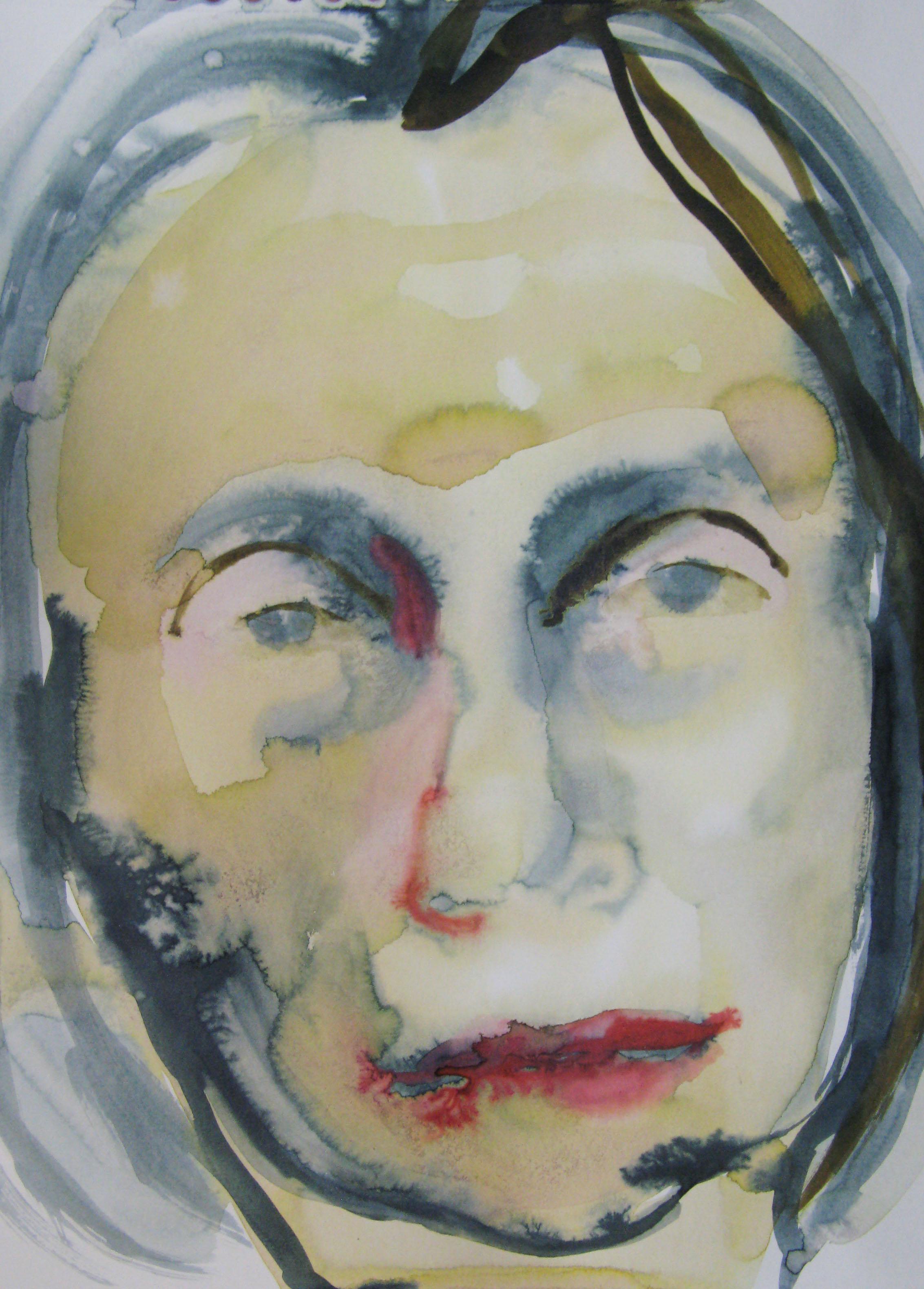 Portrait, Alina, 42x29.7cm  watercolour, ink on paper  2019