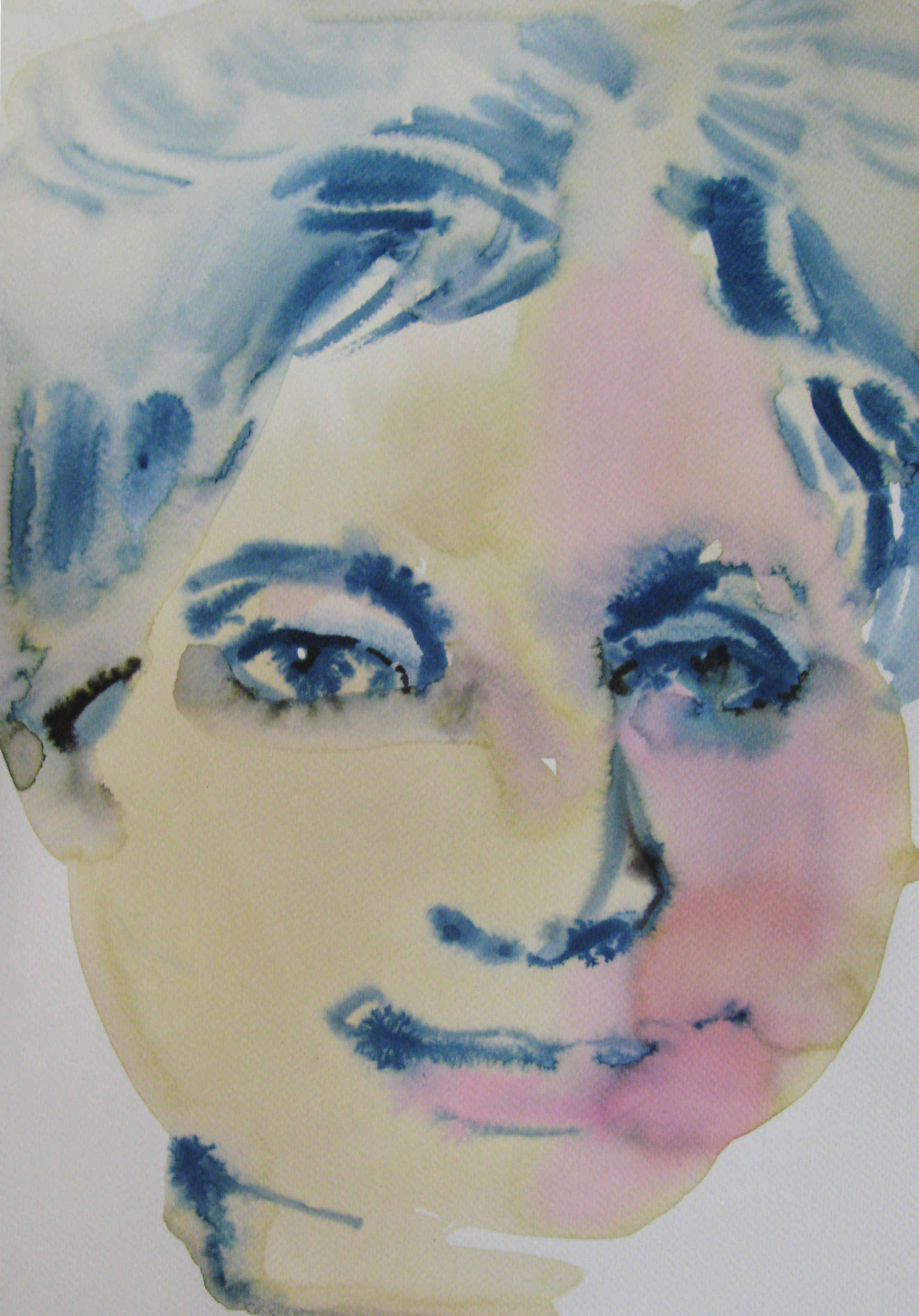 Zdenka, 42x29.7cm  watercolour, ink on paper  2019
