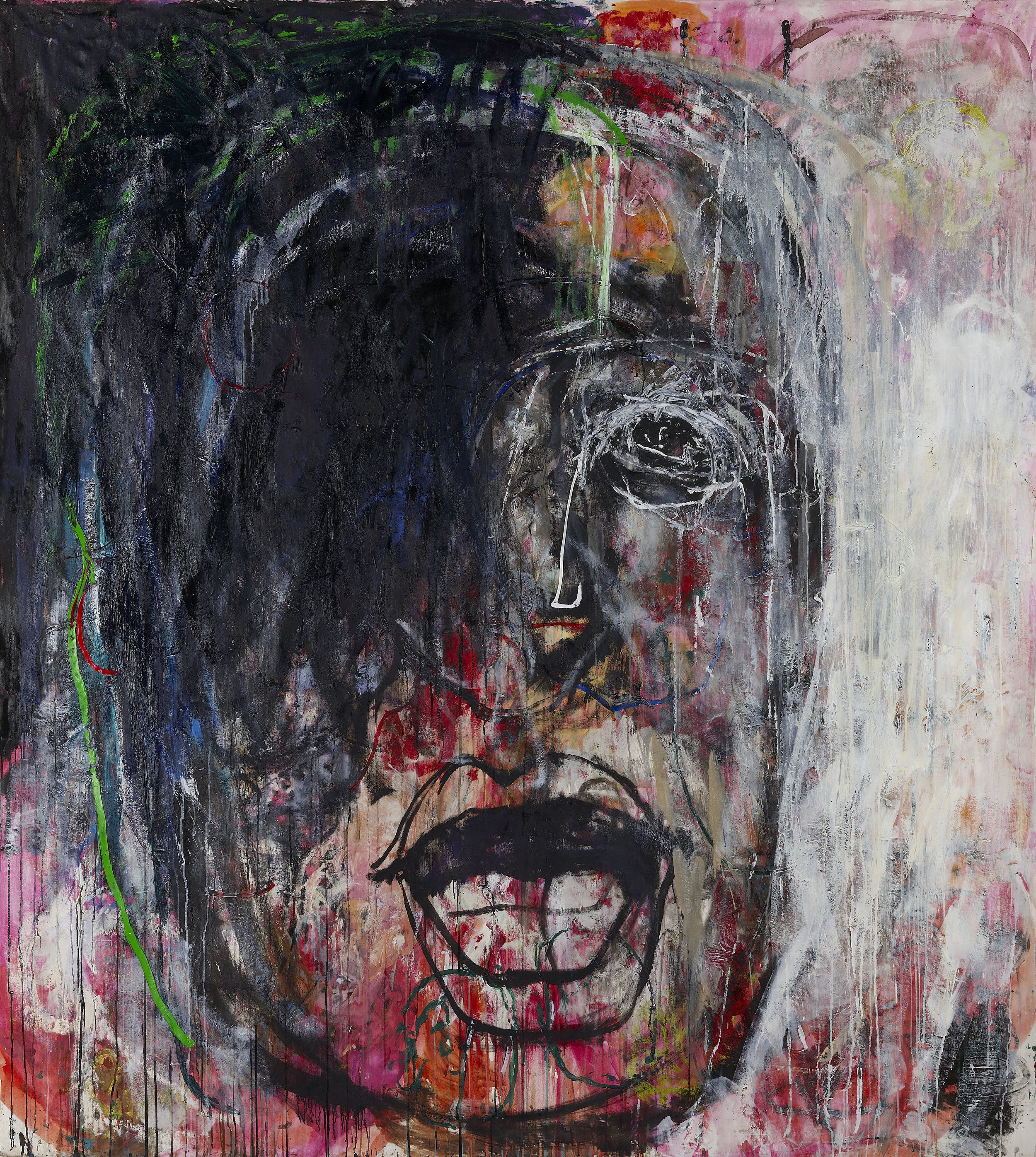 Heads No 6 oil, on canvas, 190x190cm, 2010-2019