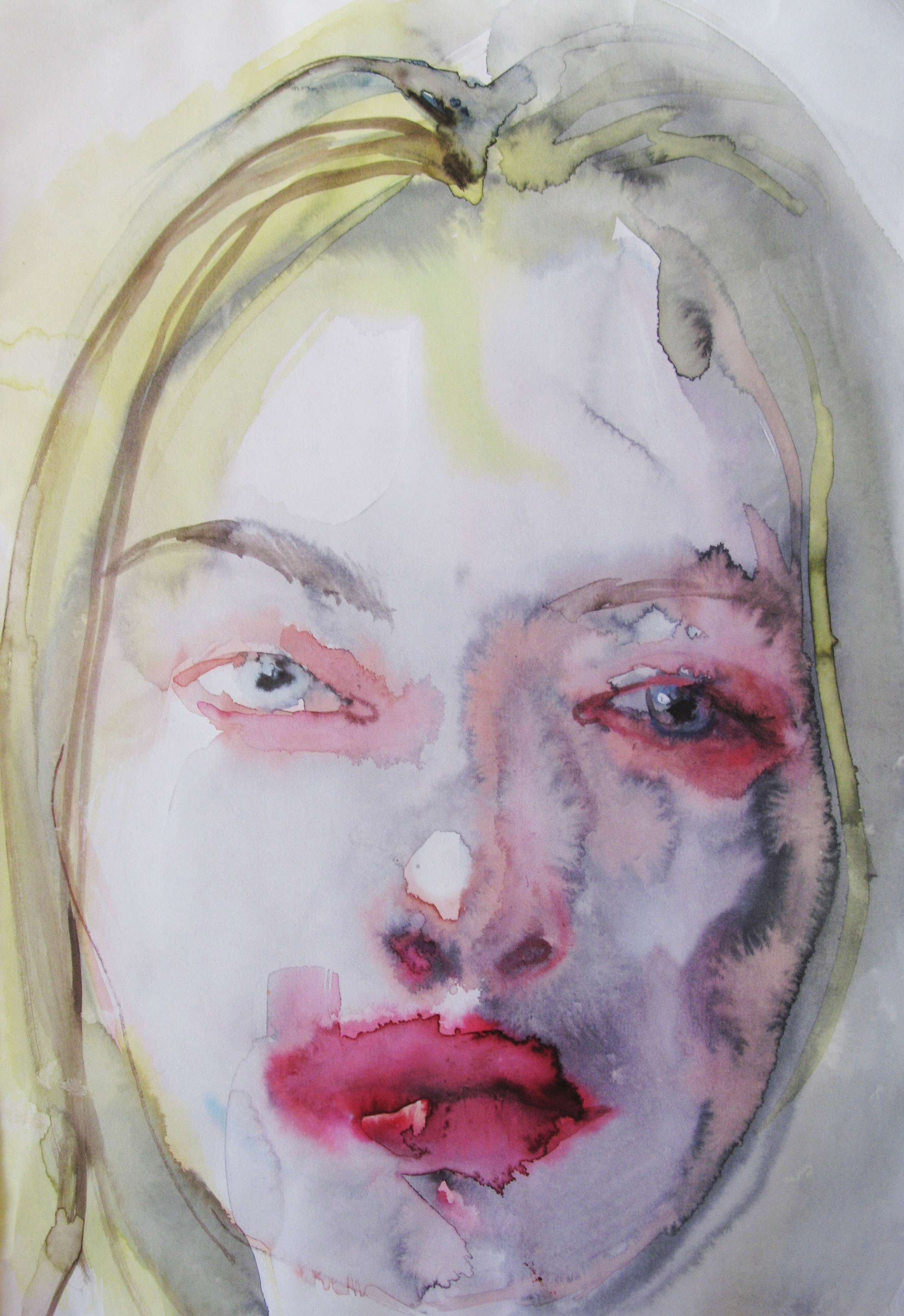 Ann, 42x29.7cm  watercolour, ink on paper  2019