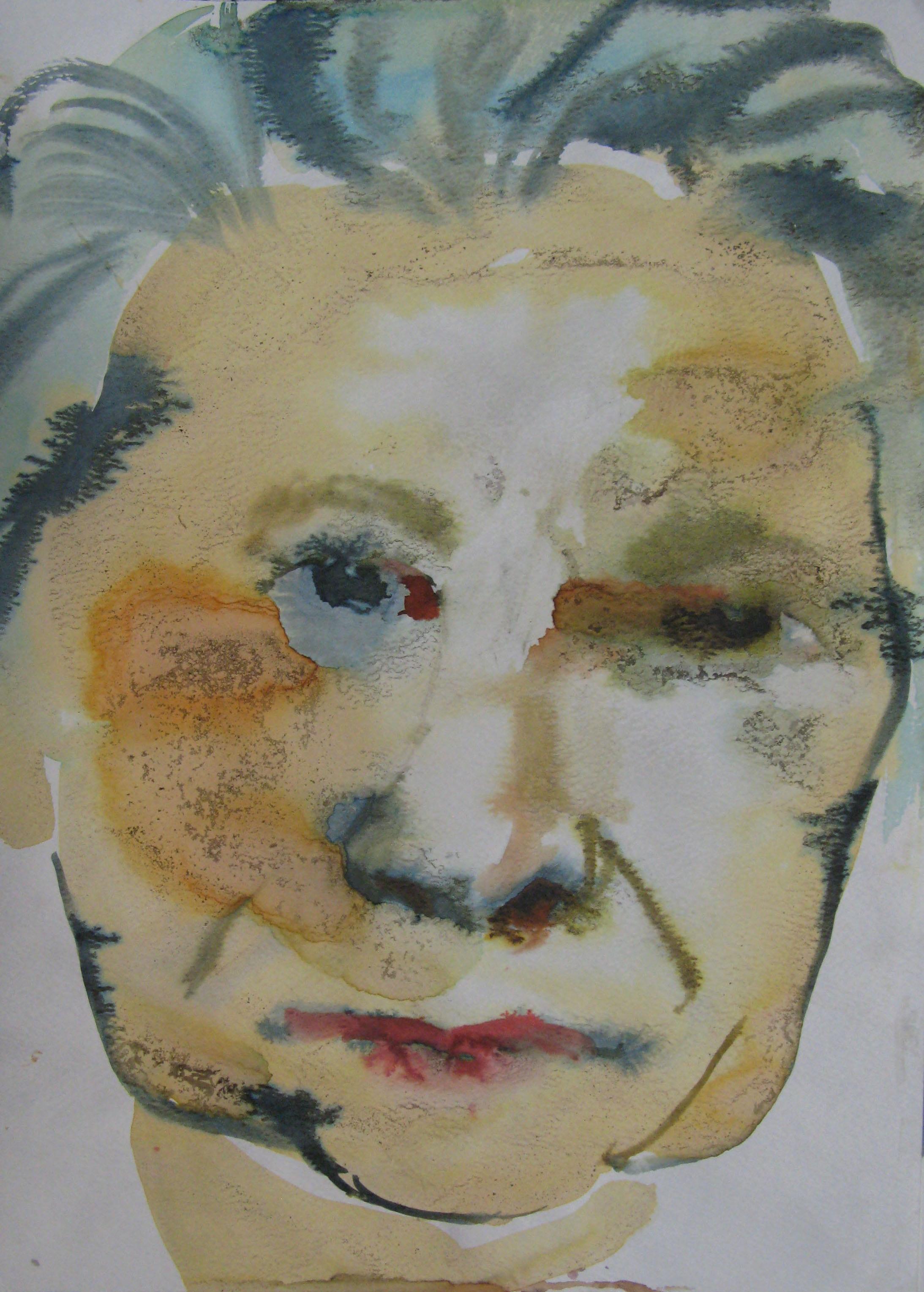 Daniela, 42x29.7cm  watercolour, ink on paper  2019