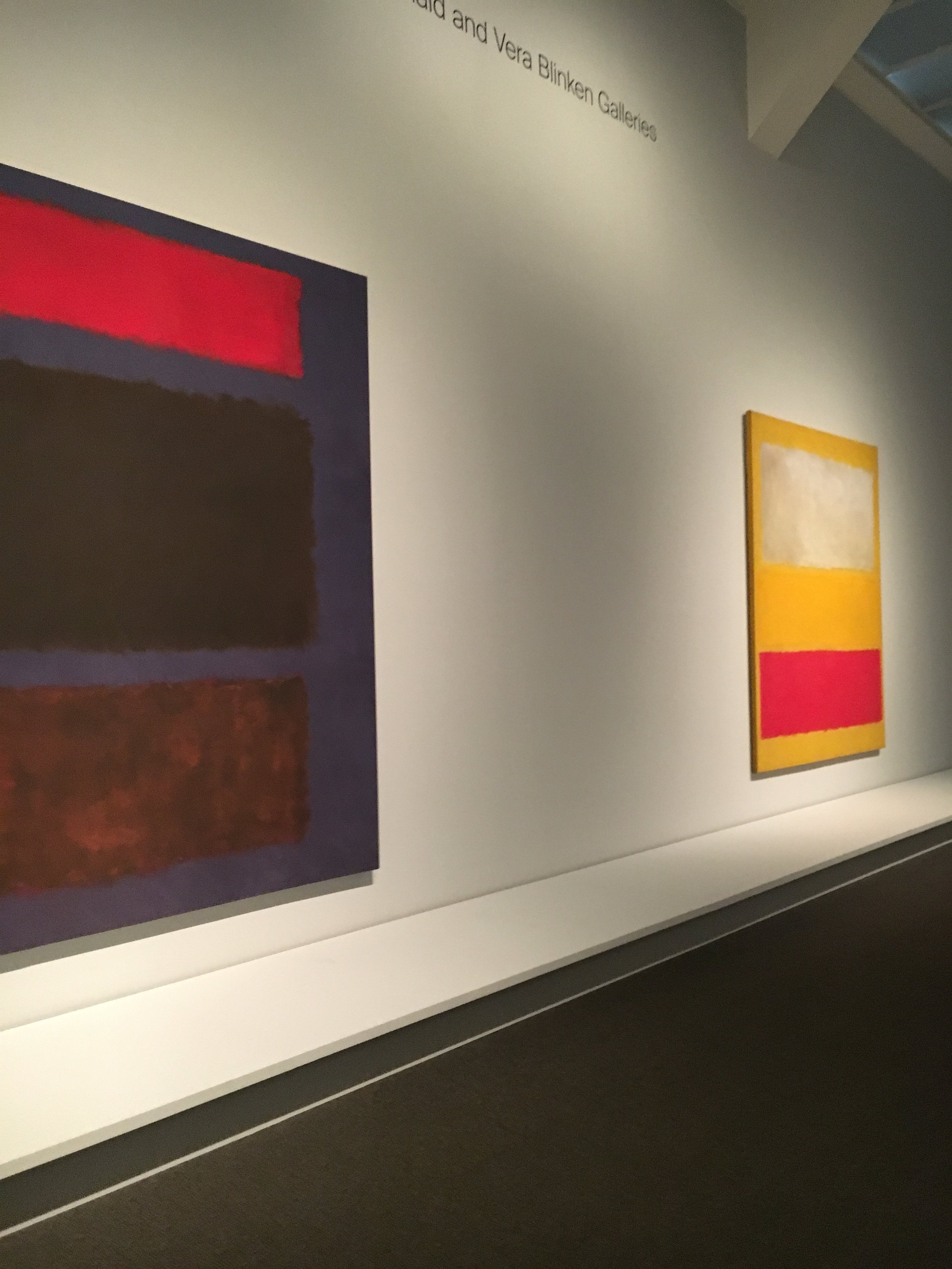 - Visiting Rothko's at the MET in NYC