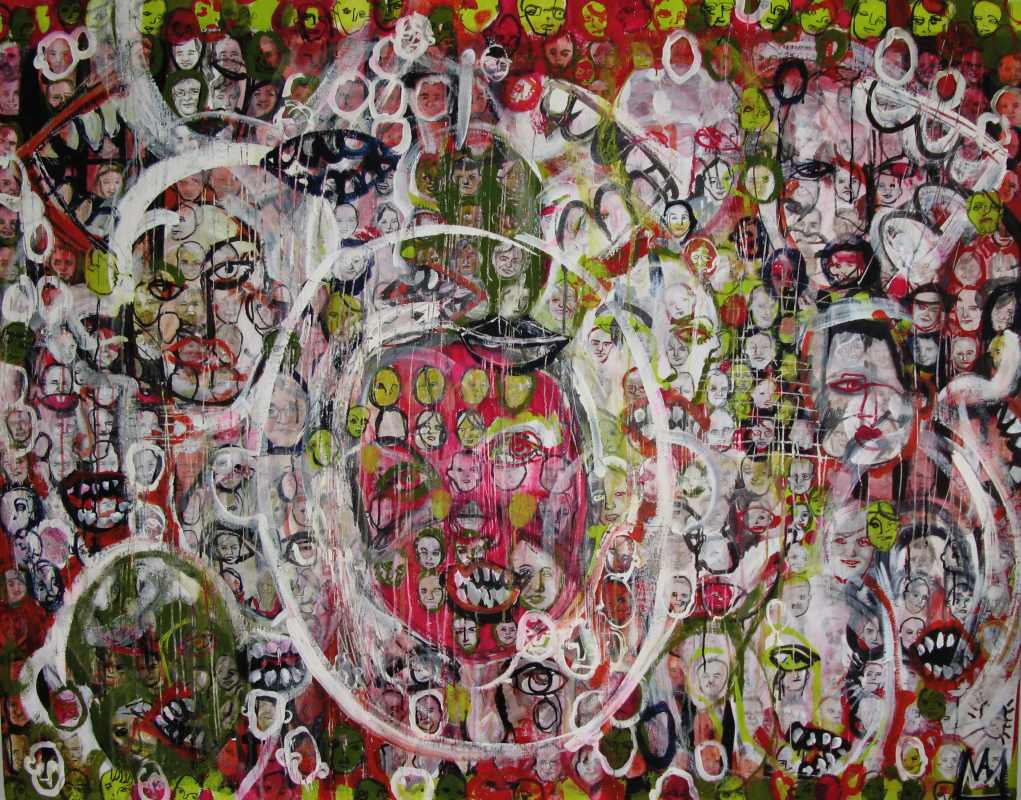Egg temper and oil on canvas, 140x120cm