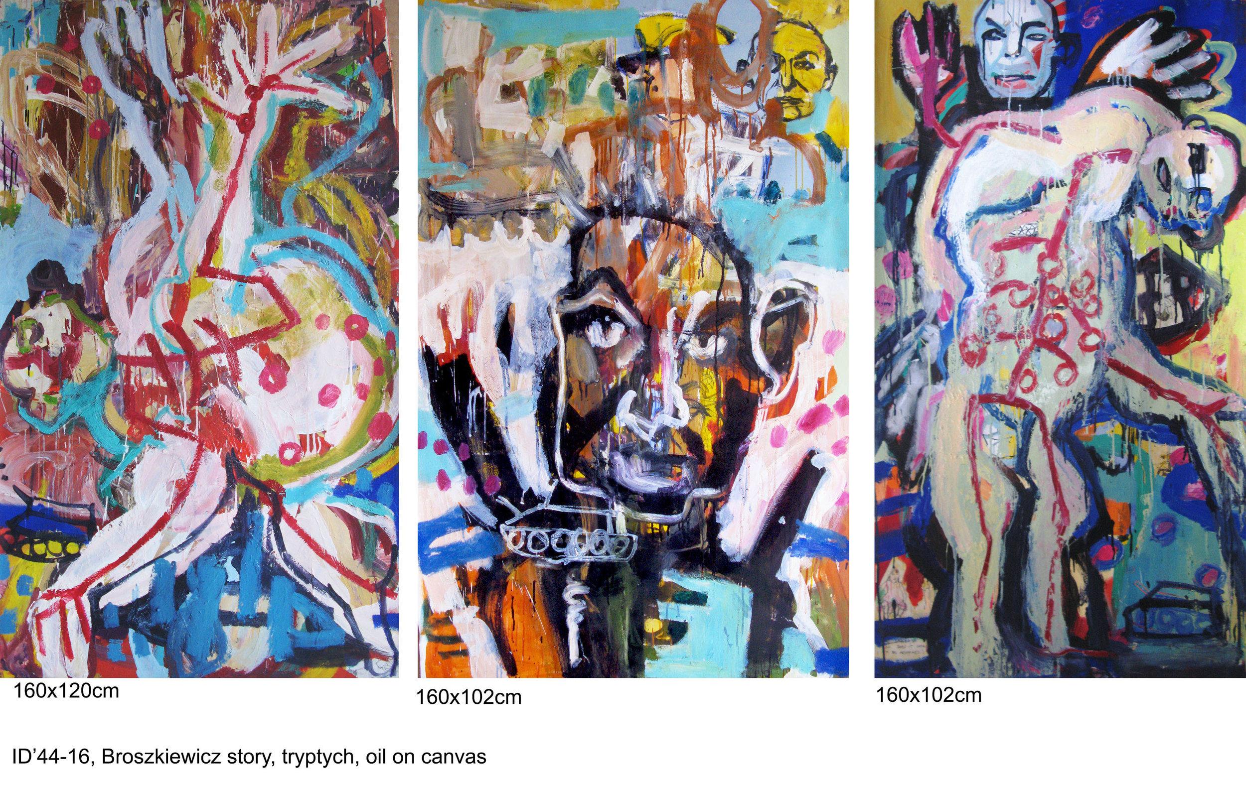 Broszkiewicz's story, 320x160cm, oil on canvas, 2017-18