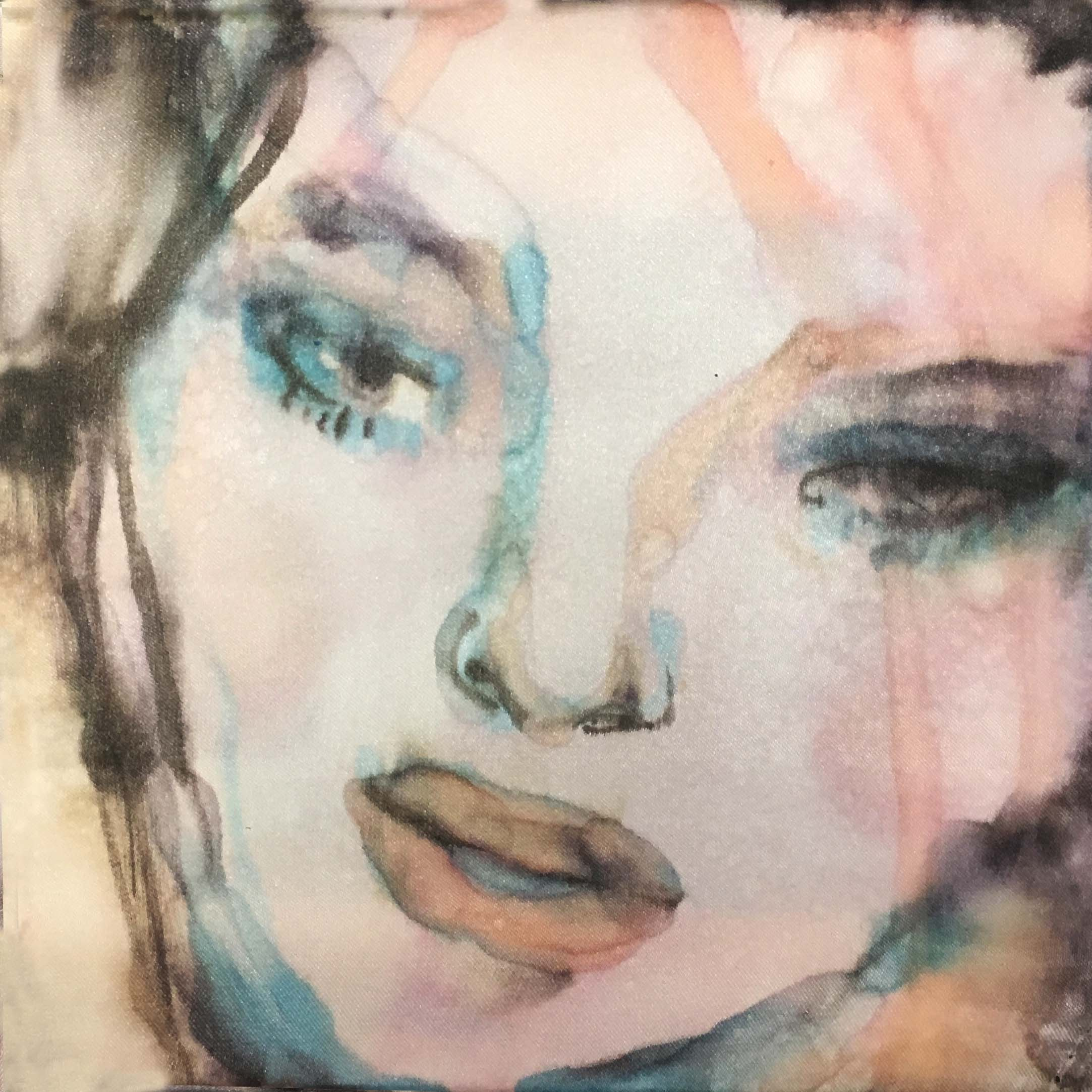 20x20cm, watercolour on silk