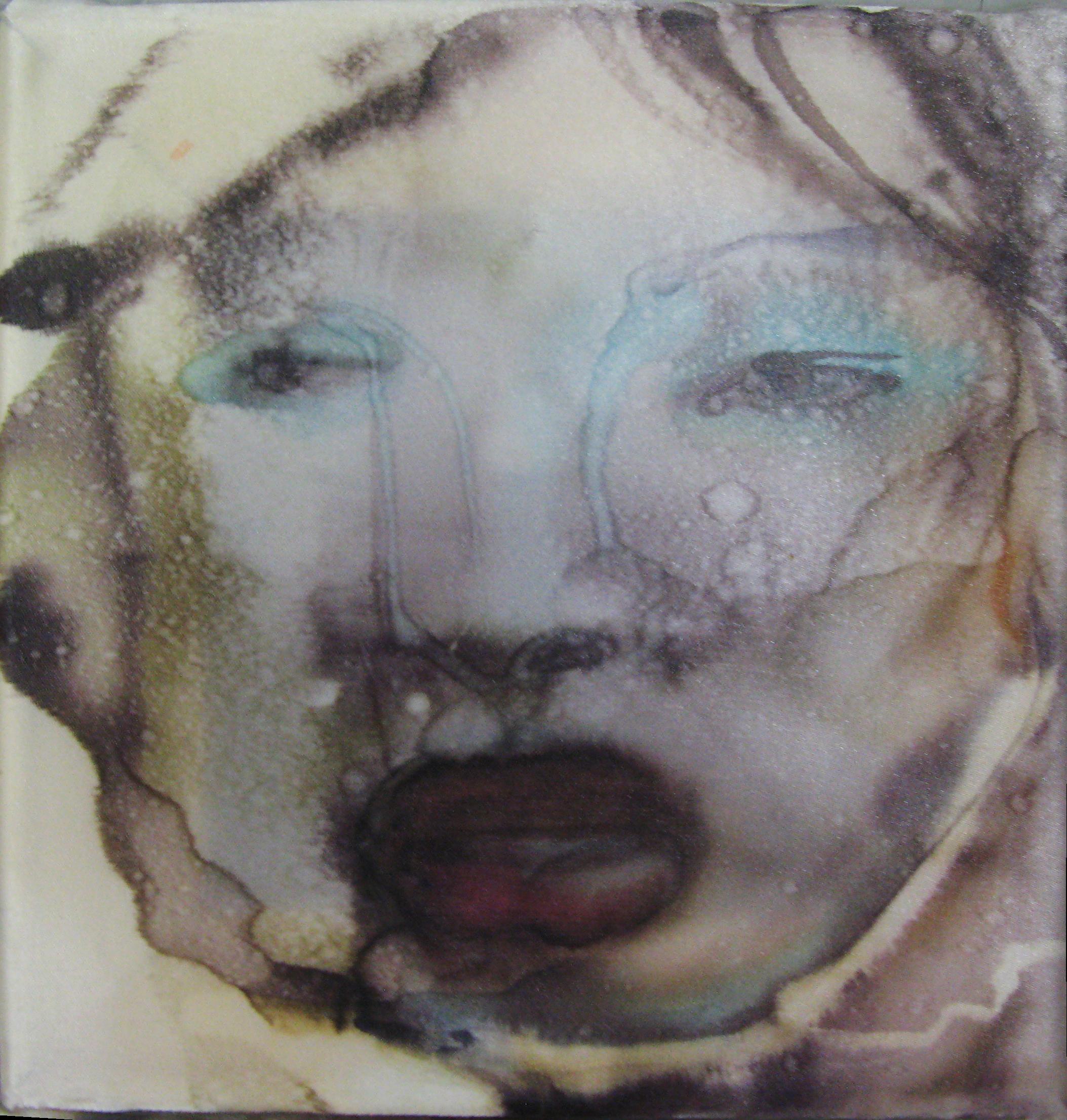 20x20cm, watercolour on silk