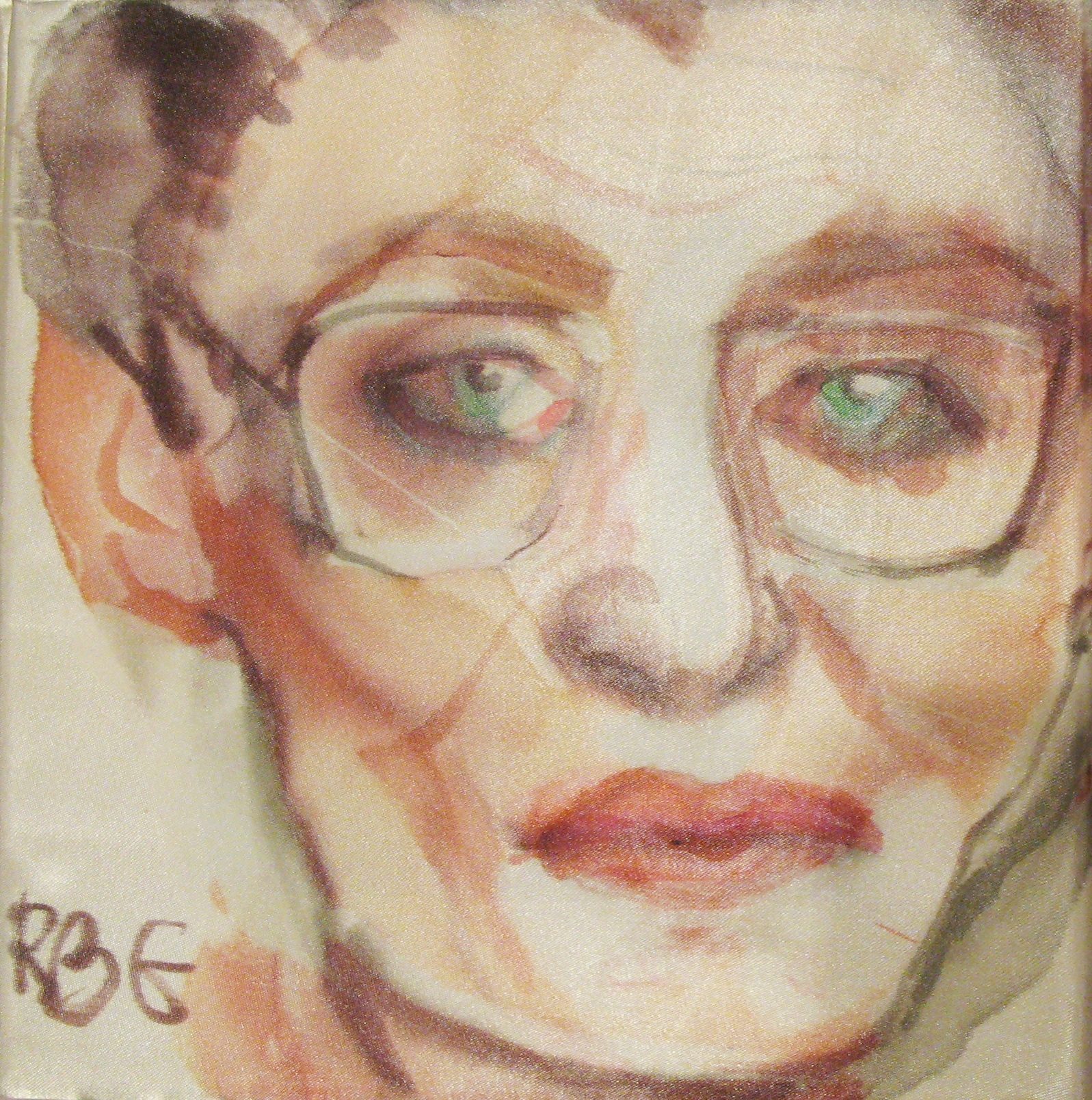 Justice Ginsburg, 20x20cm, watercolour on silk