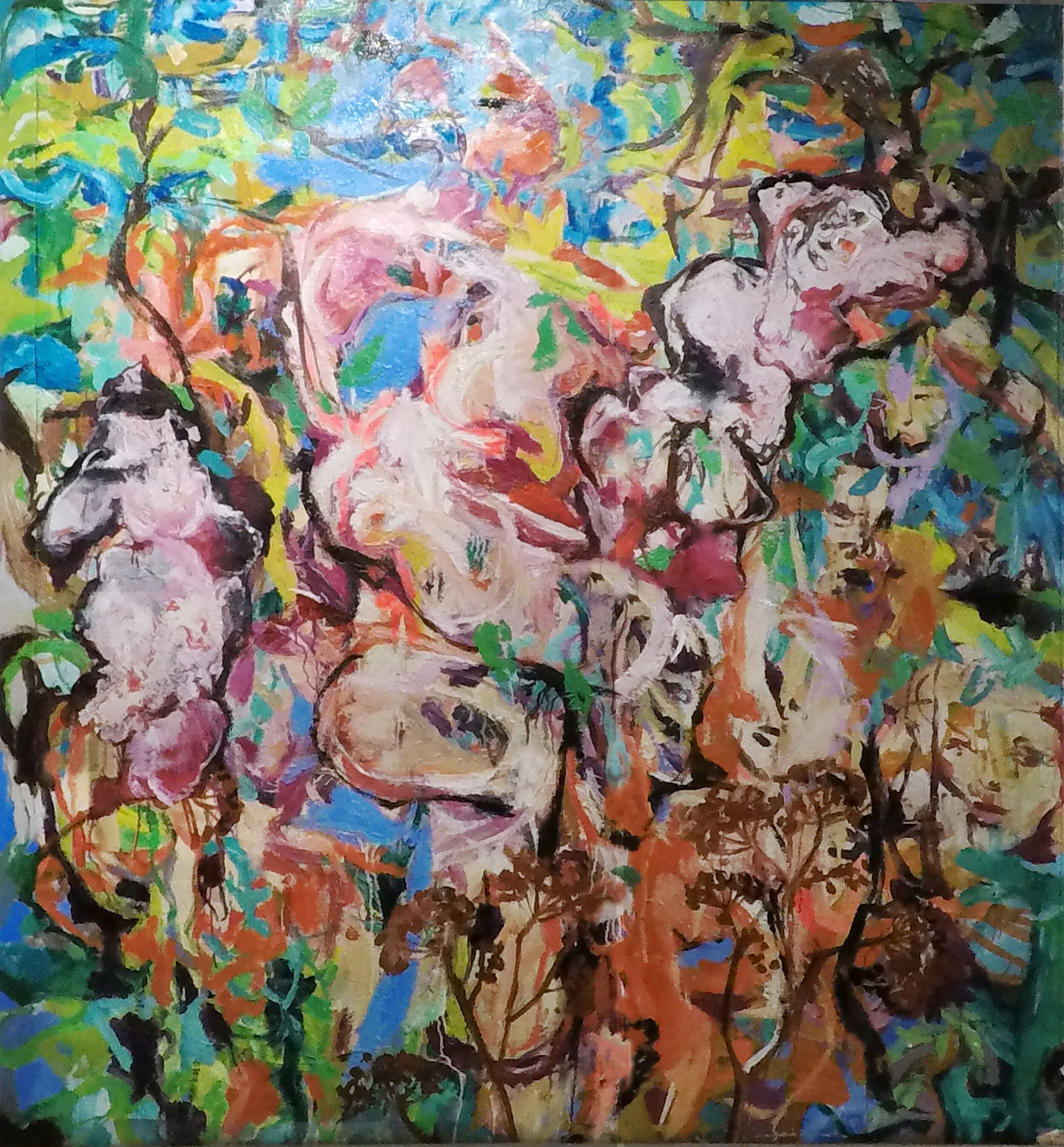 Zdenka's story, tryptych, ID Identity series, No 33, oil on canvas, 168x155cm,2018