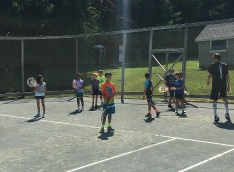 Tennis at Copoco - Our 4 meticulously kept Hard-Tru Clay tennis courts allow for play all day and into the evening.
