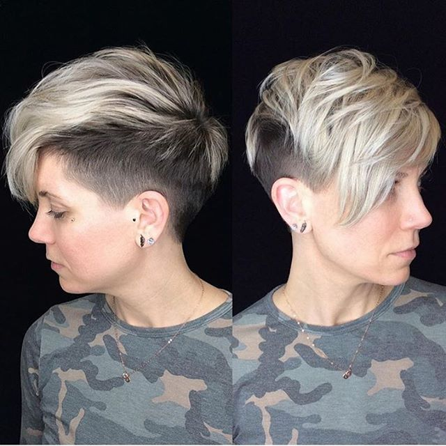 Haircut and colour by @courtneyxcentrichair . . . . . . #behindthechair #pixiecut #pixie360  #pixiehaircut #shortpixie #longpixie #shorthair #shorthaircut #cosmoprofbeauty #cosmopro #licensedtocreate  #undercut #ladyfade #barbering #kwawesome #springhair