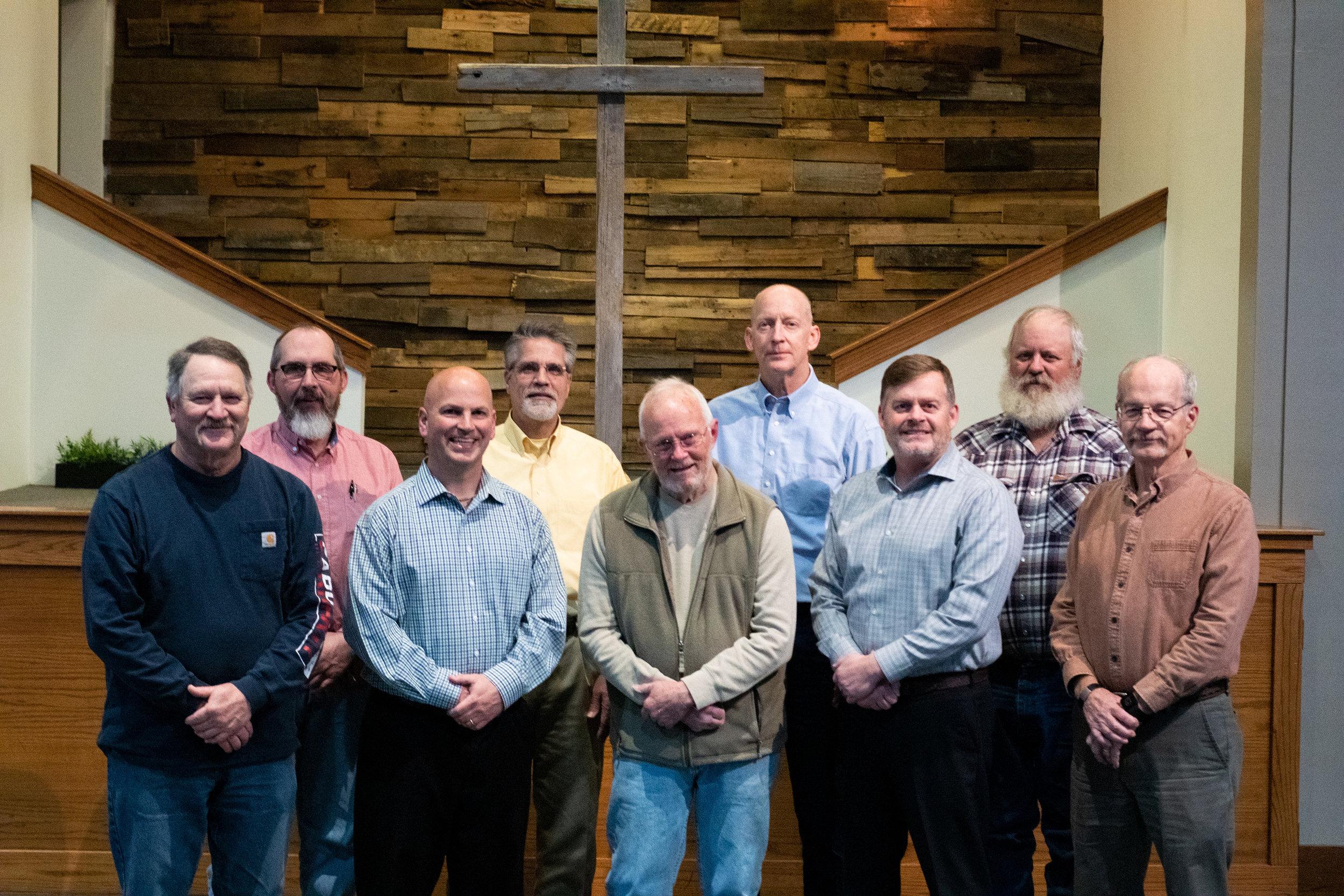 FBC Elders - Larry Schmidt, Chair | Jeff Nattier, Vice-ChairDean Schulz | Daryl Wedel | Tim KirtleyJim Myers | Ron Flickinger | Dan Heinze