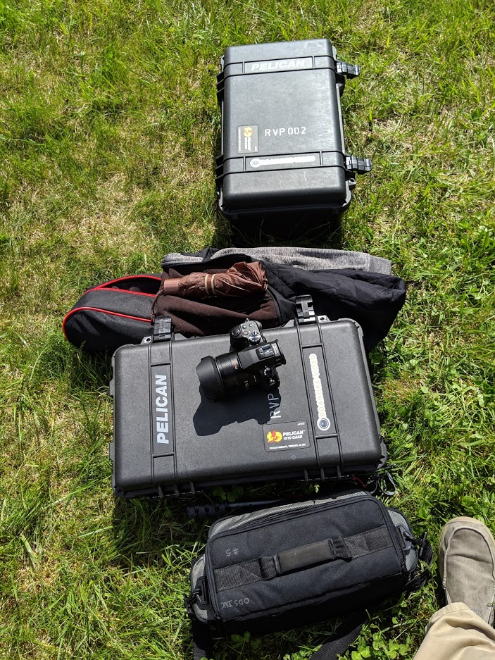Some gear on a wedding shoot