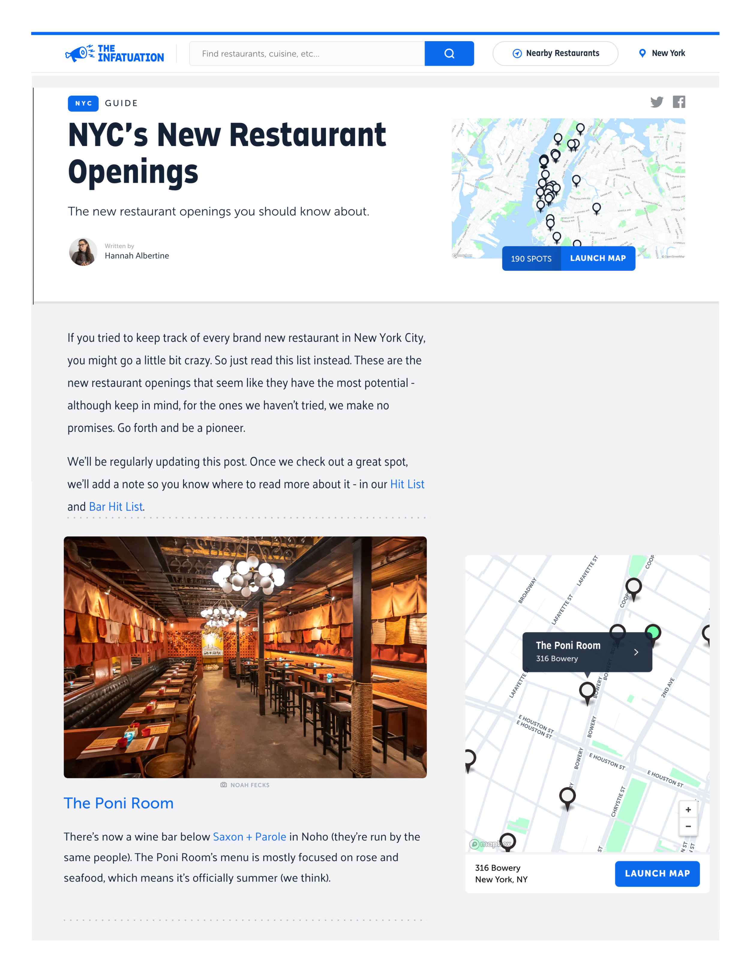 The Infatuation - NYC's New Restaurant Openings