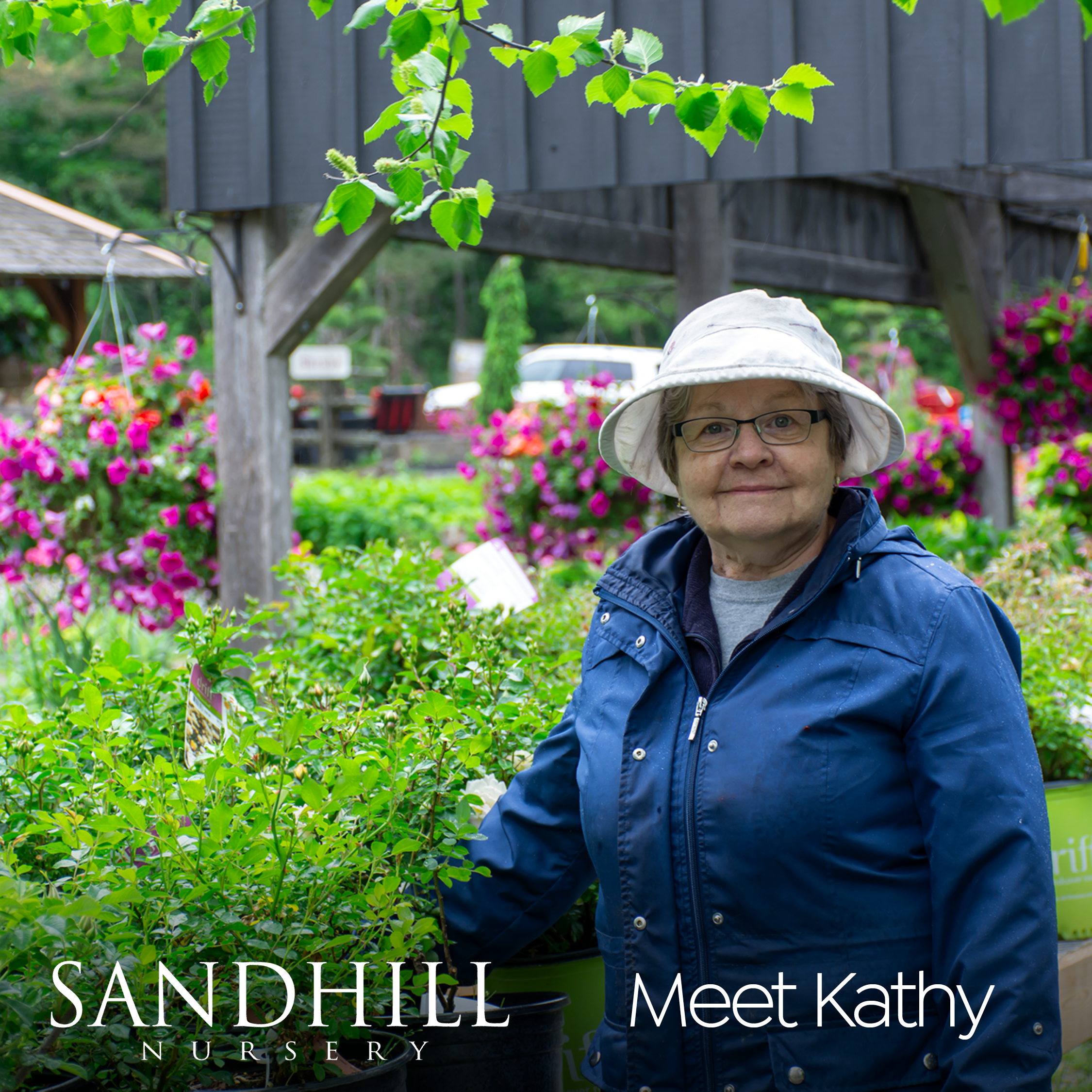 Perhaps this friendly face looks familiar? Kathy has been sharing her expertise with Sandhill clients for 30 years. There isn't a gardening riddle she can't solve!