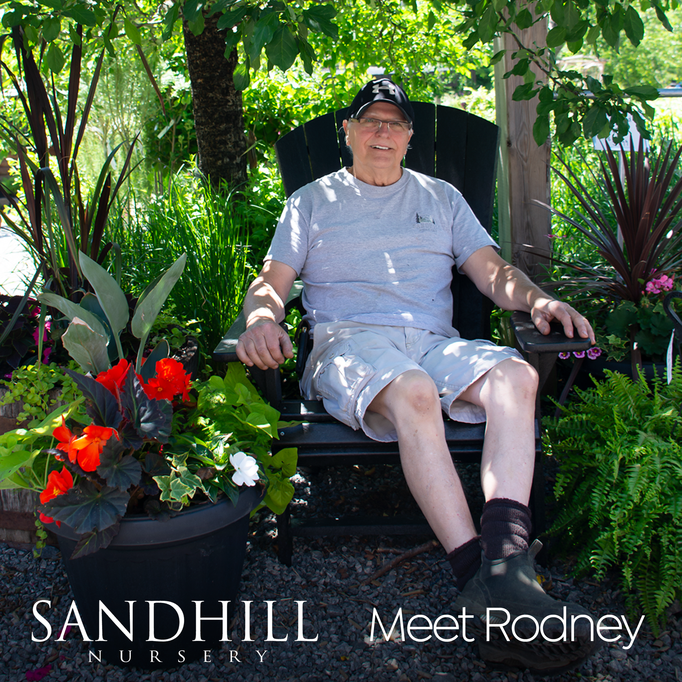 The expertise and enthusiasm of our Sandhill staff members make the experience of coming to the nursery a little extra special. Meet Rodney. If you have a question about growing in the shade, he's your guy.