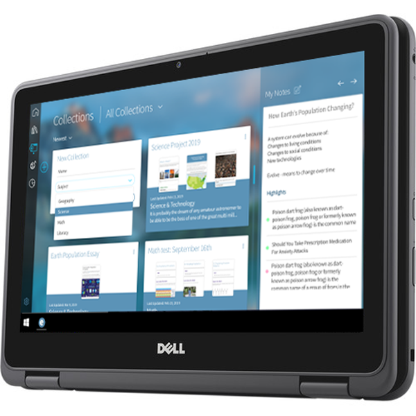Edwin running on a Dell Education 3189 2-in-1 in tablet mode