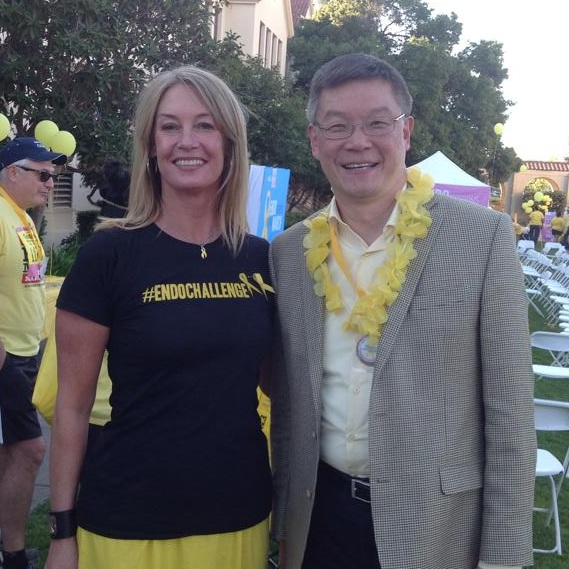 With Dr. Wah, Past President of the AMA & Endometriosis advocate