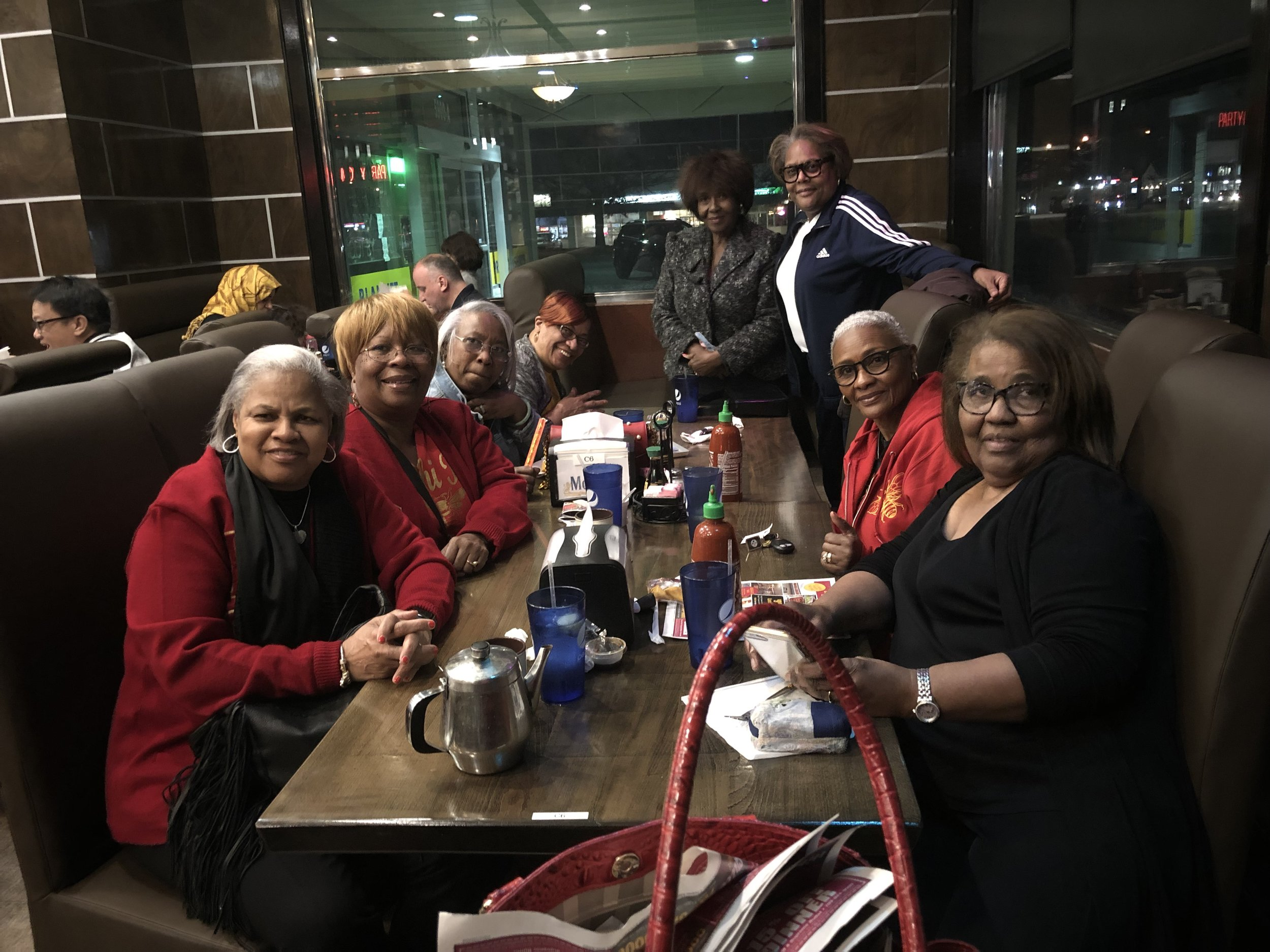 Sorors fellowship during the National Executive Board Meeting in Arlington, VA, March 2019
