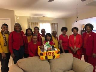 Alpha Theta prepares a Thanksgiving box for the Westglen Group Home, November 2018.