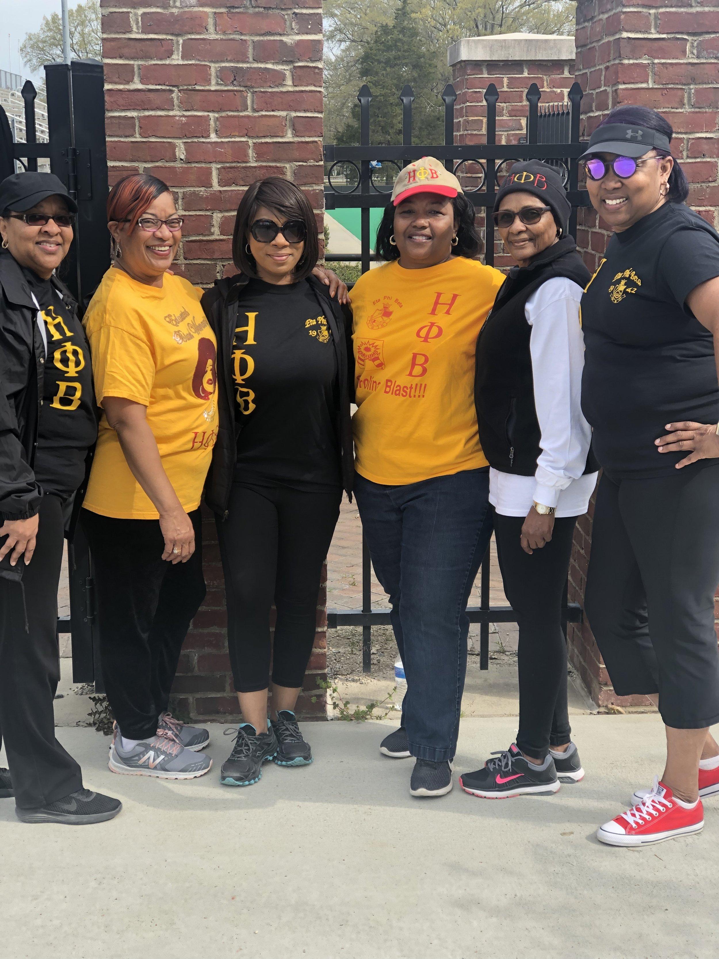 Alpha Theta participated in the Gloria Chapmon Walk-a-thon, March 2019