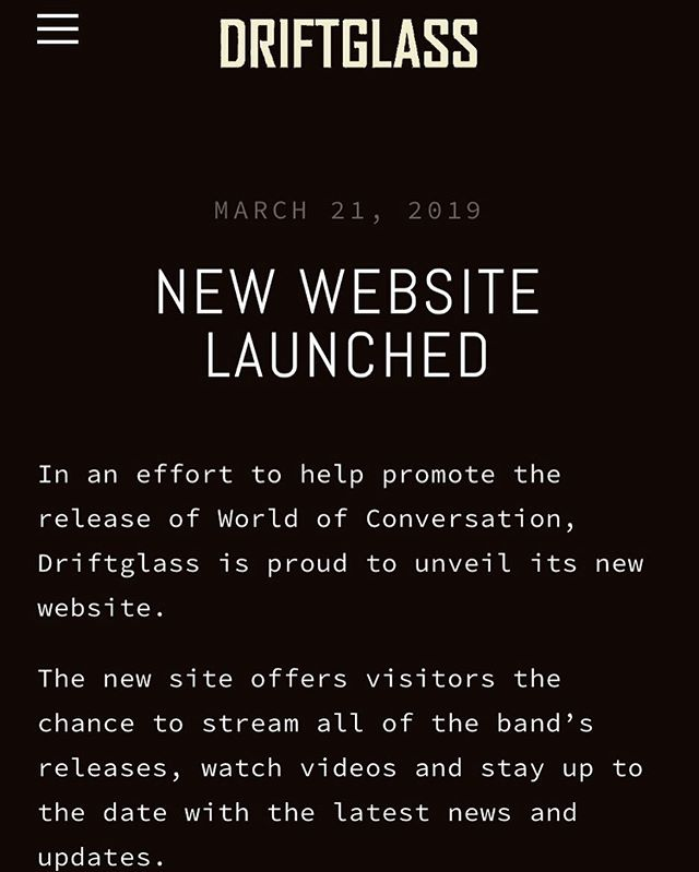 We have a new website! Check it out to get the latest news and updates, preview the new songs and stream some of the old ones! Link in bio. #driftglass #prog #progrock #progressivemetal #progressiverock #toronto #canada #newmusic
