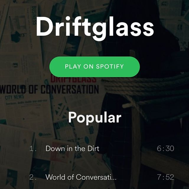 Did you know that we are on Spotify? Stream World of Conversation for free before you decide if you want to buy!  #driftglass #worldofconversation #progressiverock #progrock #progmetal #newmusic #localartist #stream #spotify @spotify @applemusic @deezer @amazonmusic