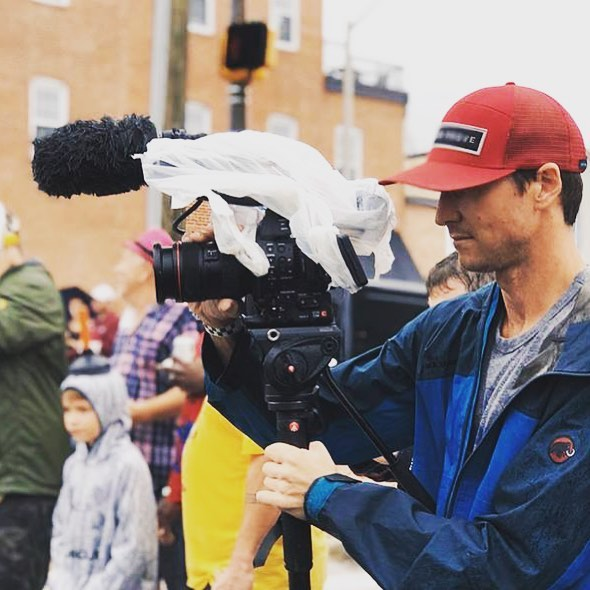Sometimes it rains and you forgot your rain cover so you make do (and cross your fingers your camera doesn't stop rolling) #problemsolving #documentary #filmmaking #docfilm