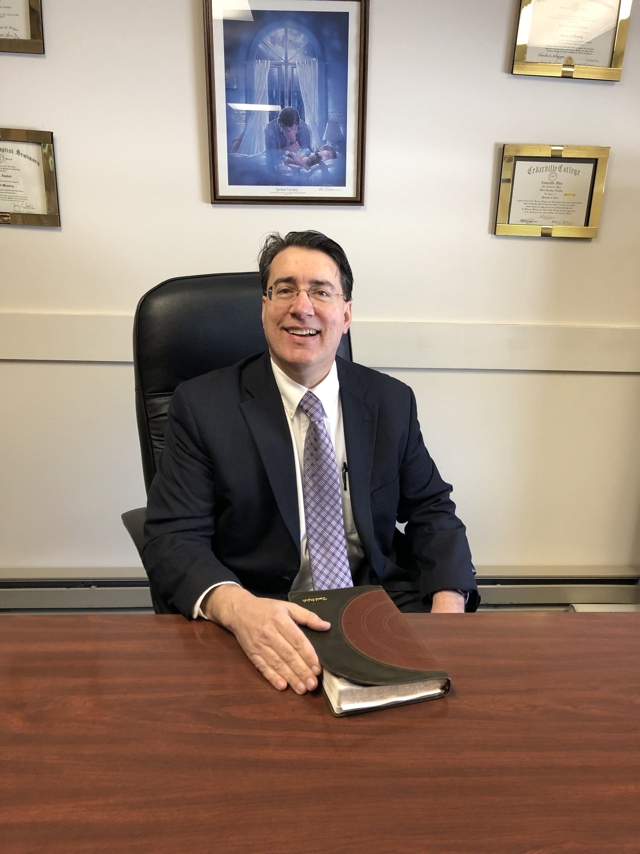Dr. David J. English, Pastor at West Rockport Baptist Church
