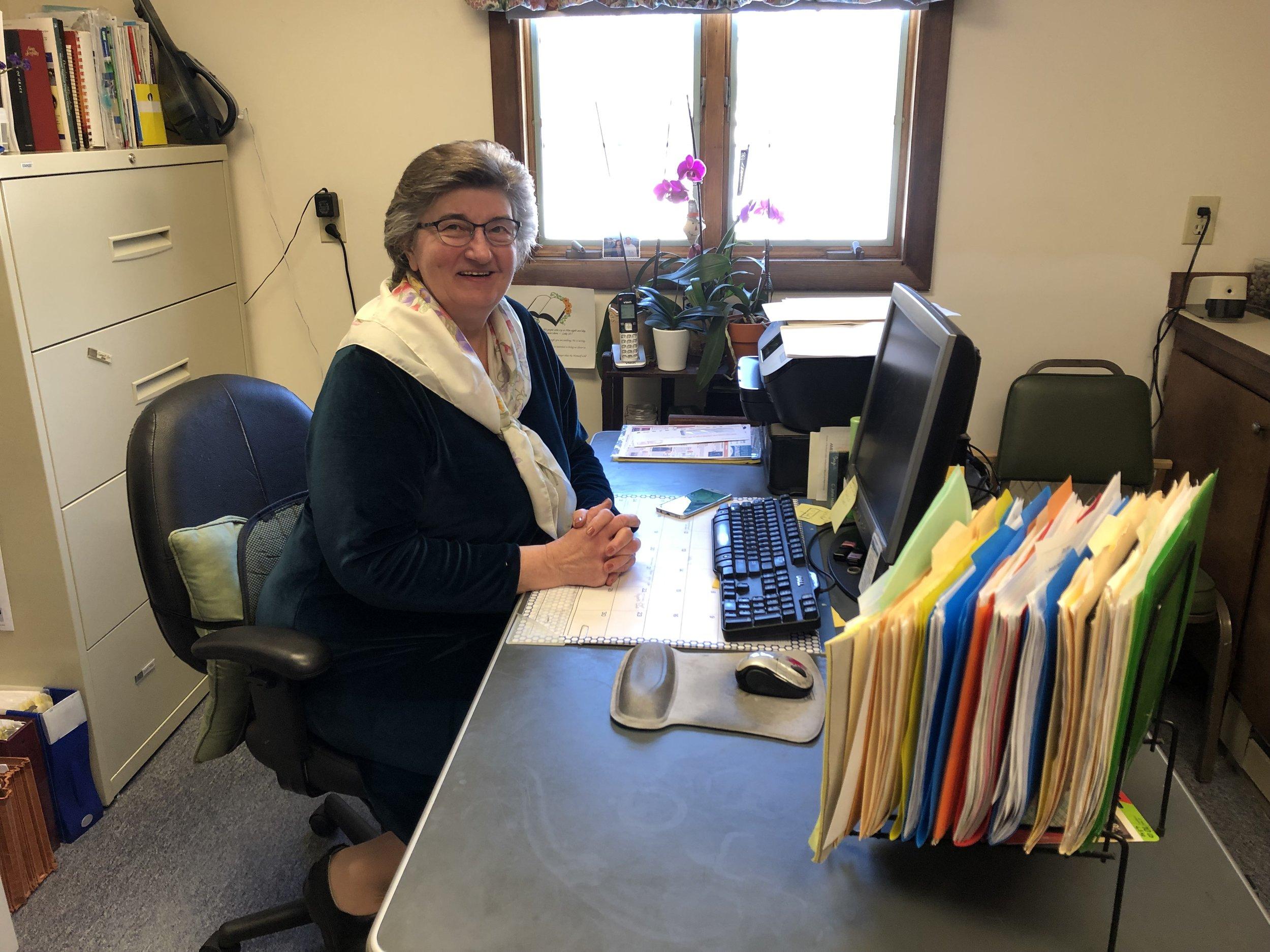 Sharon Shaw, Secretuary at West Rockport Baptist Church