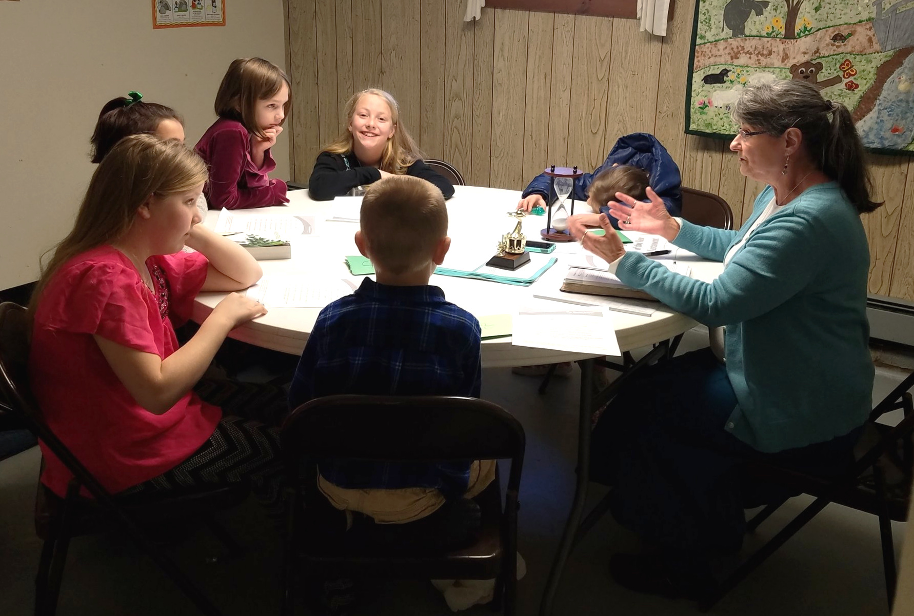 Elementary Sunday School Class at West Rockport Baptist Church