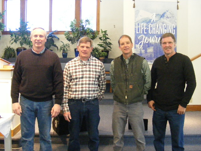 Keith Daggett, Richard Lane (Head Trustee), Jon DeWick, Brent Richardson. The following men are not pictured: Art Dinsmore, Ray Griffin, and Jared Campbell.