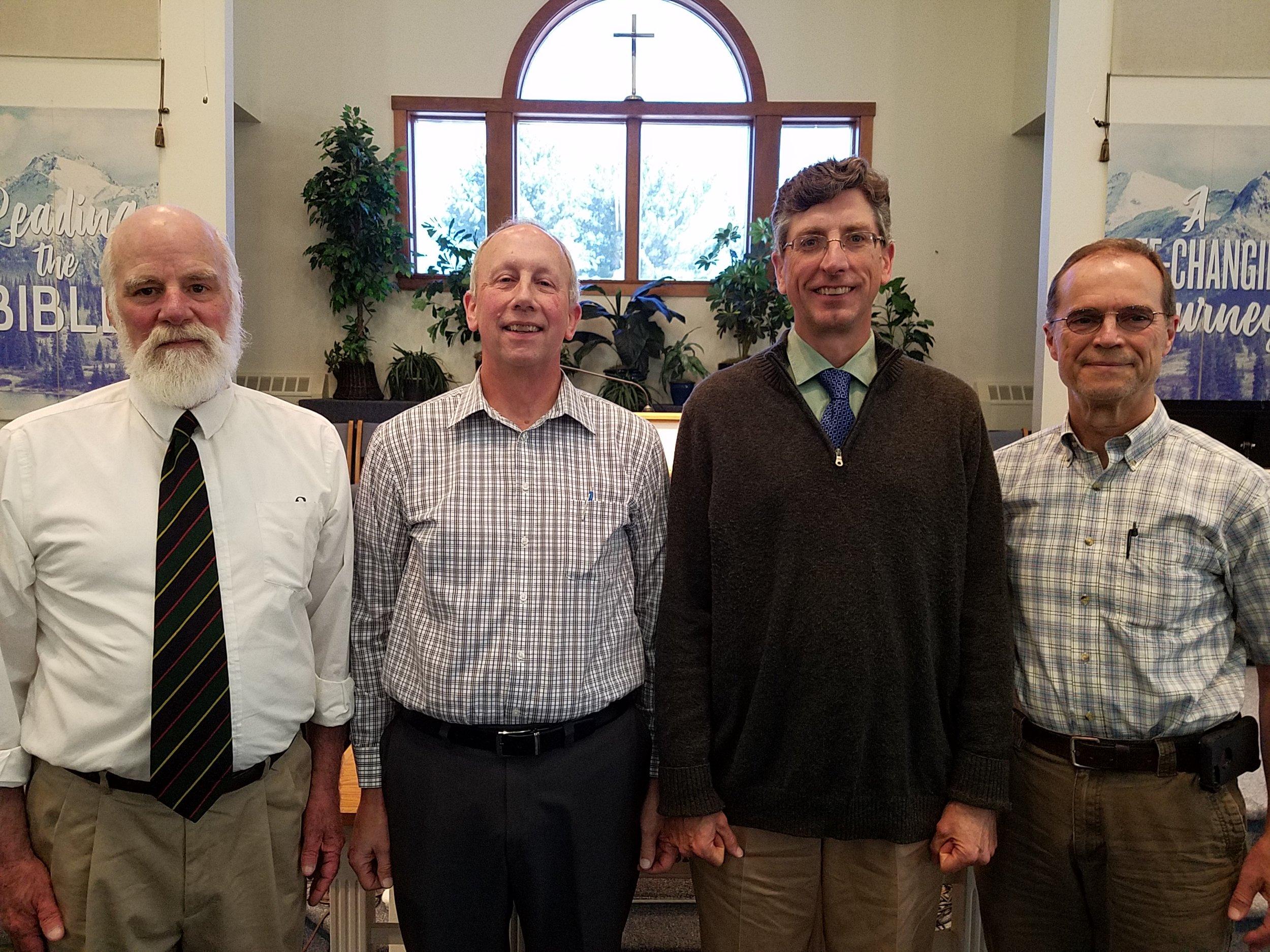 Blaikie Hines, Howard Leach (Head Deacon), Greg Chase, Tim DeHart