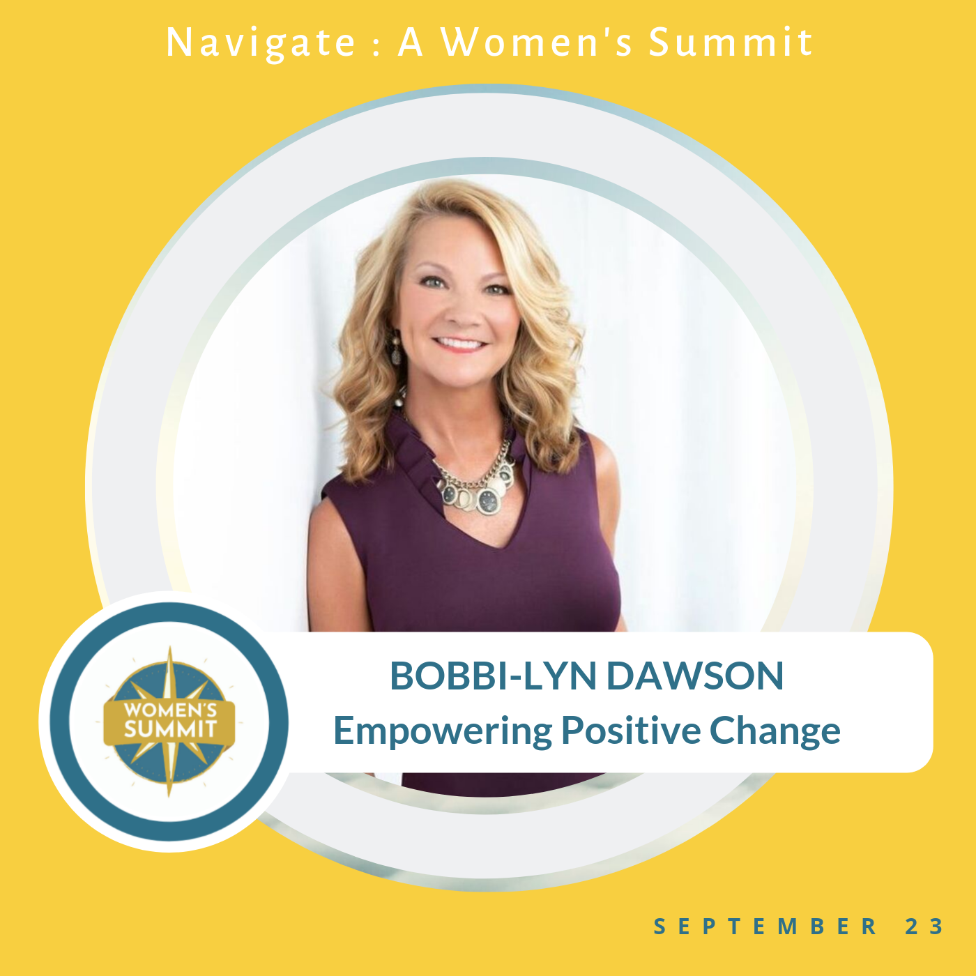 Bobbi-lyn empowering positive change women event
