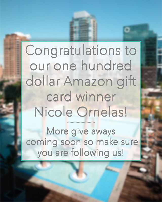 Congratulations to the winner of our $100 Amazon Gift Card Giveaway @nicoleann5!!! Leave a comment below and tell us what prize you would like us to giveaway next. We where thinking about giving away more gift cards or even some Apple AirPods! Thank you to everyone who participated in this giveaway and we appreciate everyone who followed! • • • • • • • • • • • • • • • • • • If you need help finding an apartment or have friends who do, send us a message! We provide FREE apartment locating in Texas and can help you find an amazing apartment in the area! #giveaway