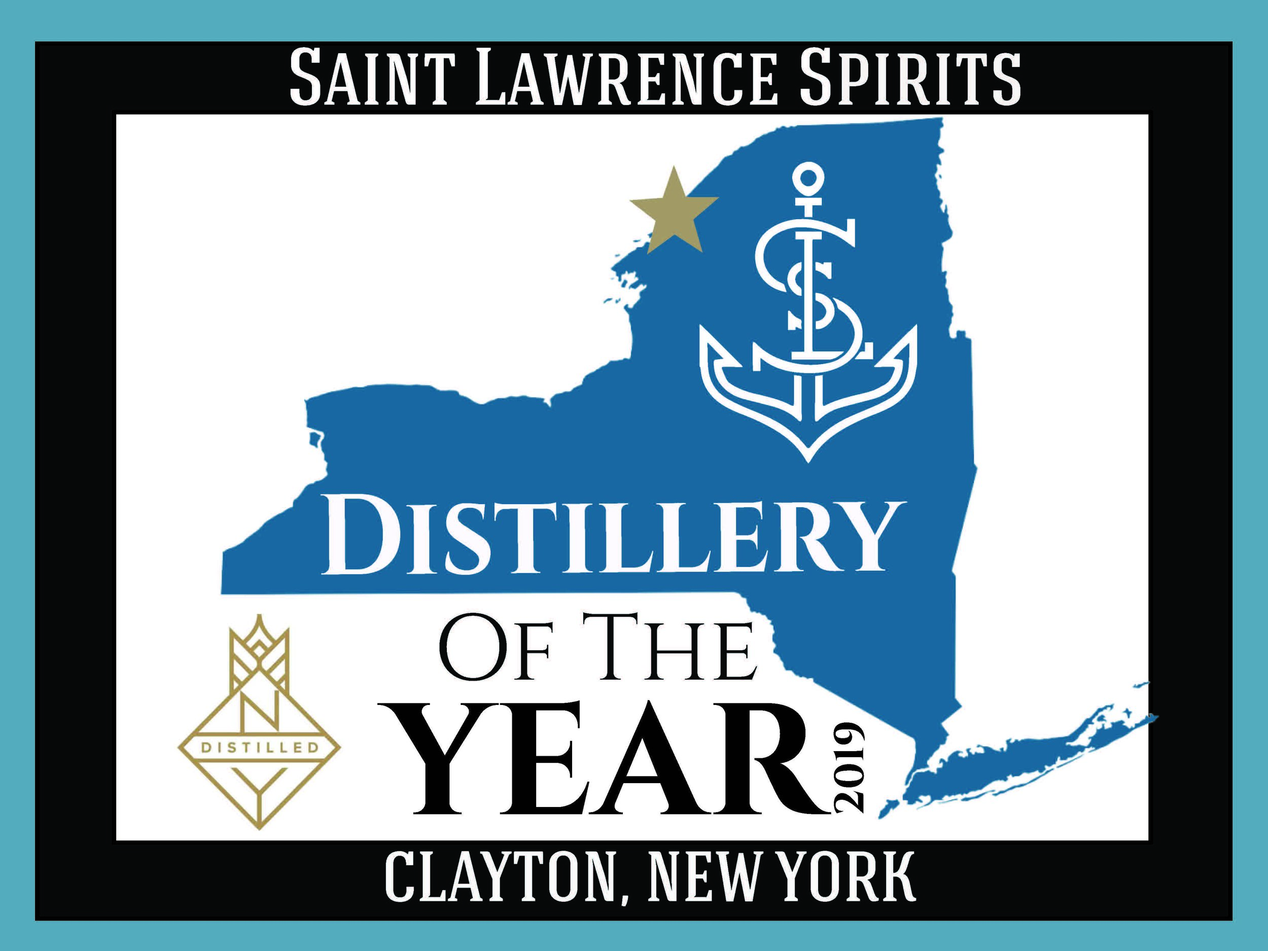 Saint Lawrence Spirits Awarded Distillery of the Year by New York State Distiller's Guild