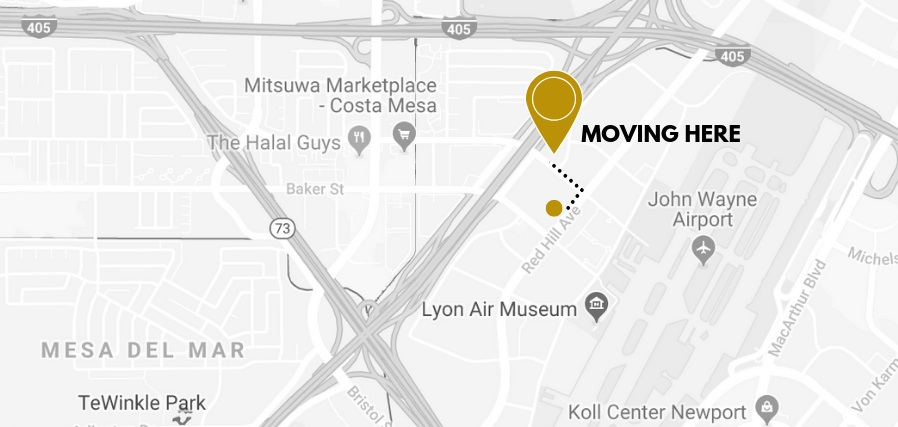 THE MAP - We are moving right down the street off of Paularino Ave.