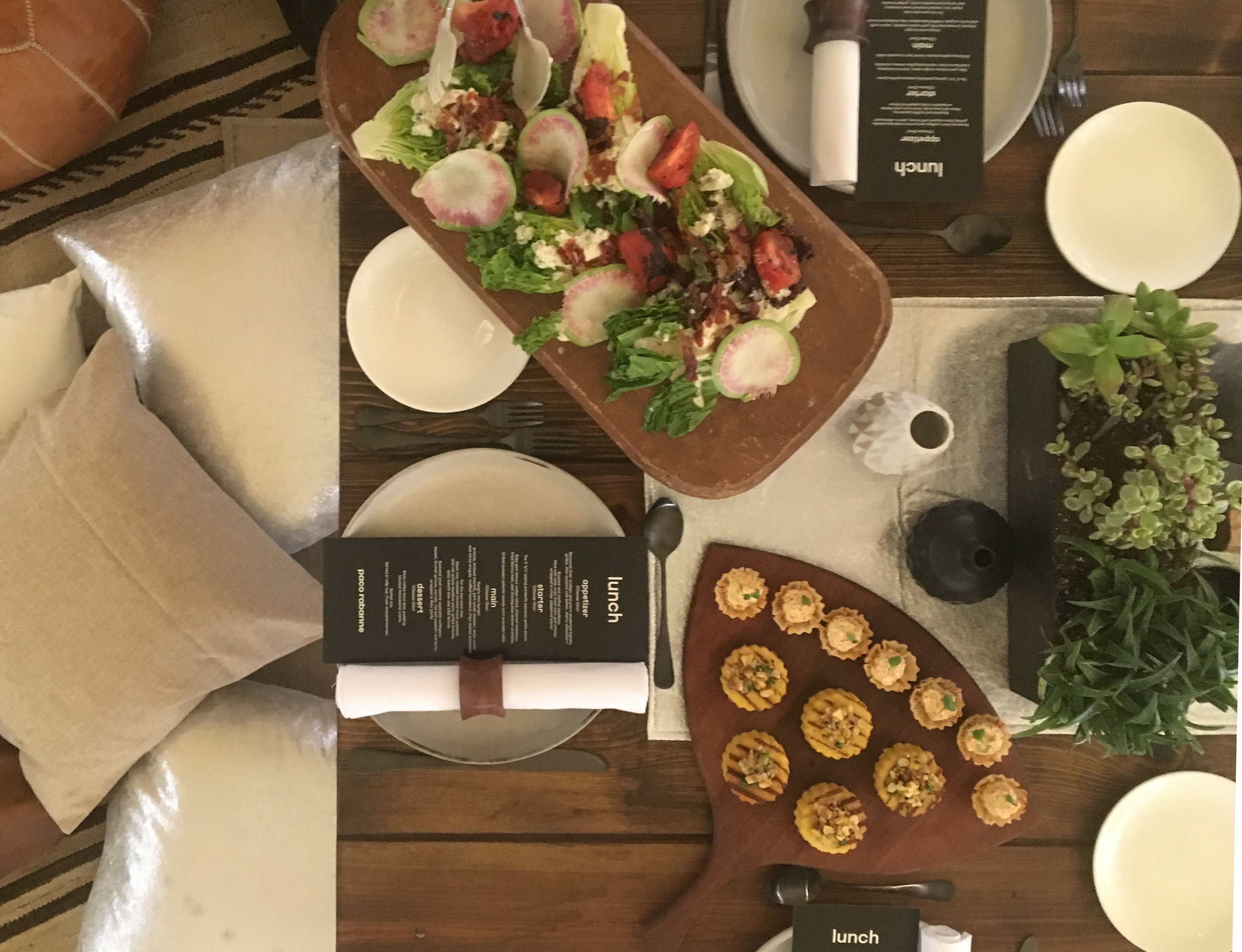 A beautiful spread from New Leaf Catering completes any special event.