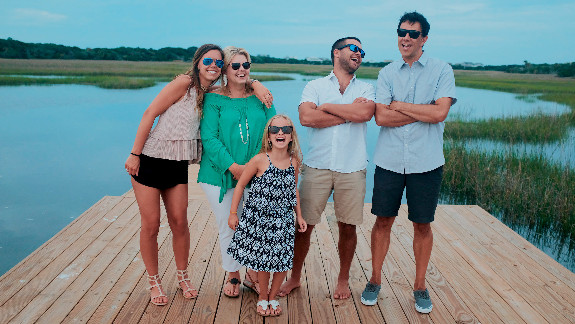 This is my tribe… my family… at one of our favorite spots, Bald Head Island. They're all looking really cool, because they are, and I'm looking sorta dorky, because, well…