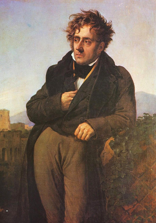François-René de Chateaubriand - 1768 - 1848Portrait de Chateaubriand par Anne-Louis Girodet De Roussy-Trioson – 1810 Un homme médite sur les ruines de Rome Musée de Saint-Malo