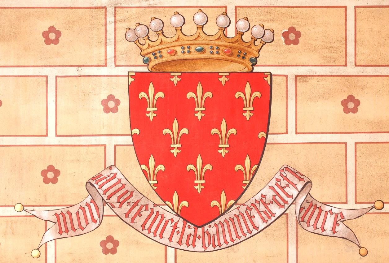 Blason des Chateaubriand avec la devise  «Mon sang teint la bannière de France»