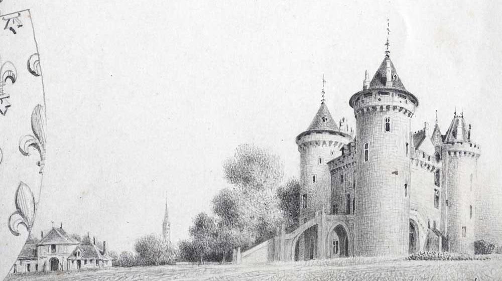 Dessin du château au XIXe siècle