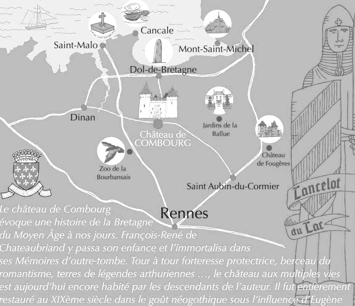 Le Château de Combourg est un monument historique privé, ouvert de février à novembre -