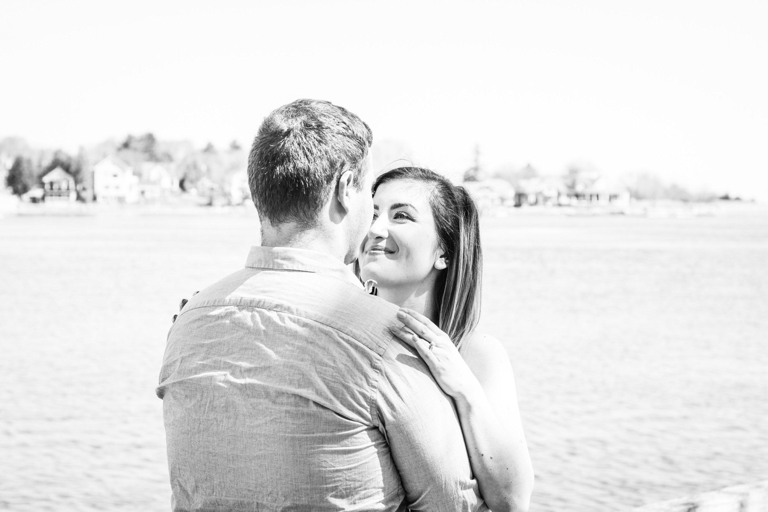 Claire and Jeff Engagement in Newburyport