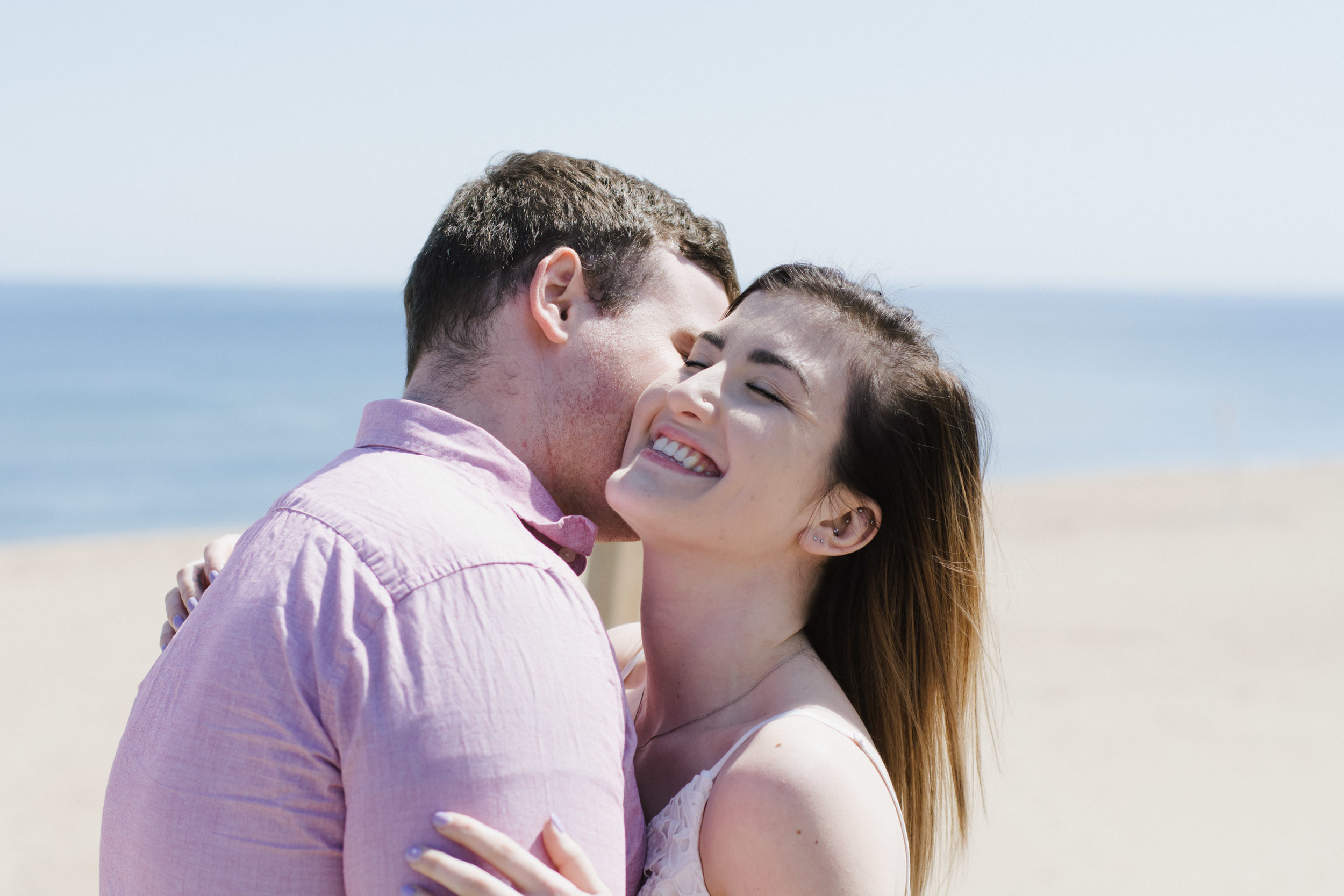 Claire and Jeff Engagement at Plum Island