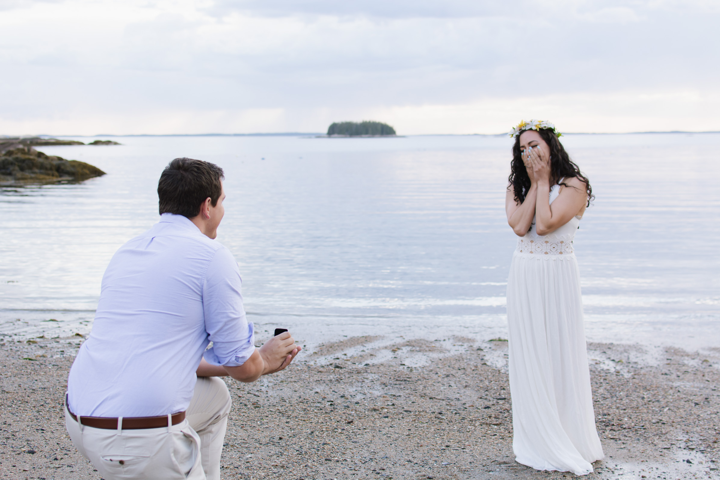Kayleigh & Dan, Maine Engagement Shoot