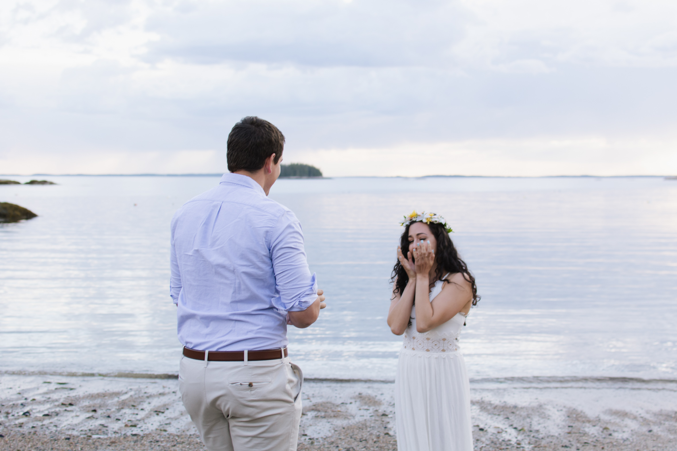 Kayleigh & Jeff Engagement on Deer Isle, Maine