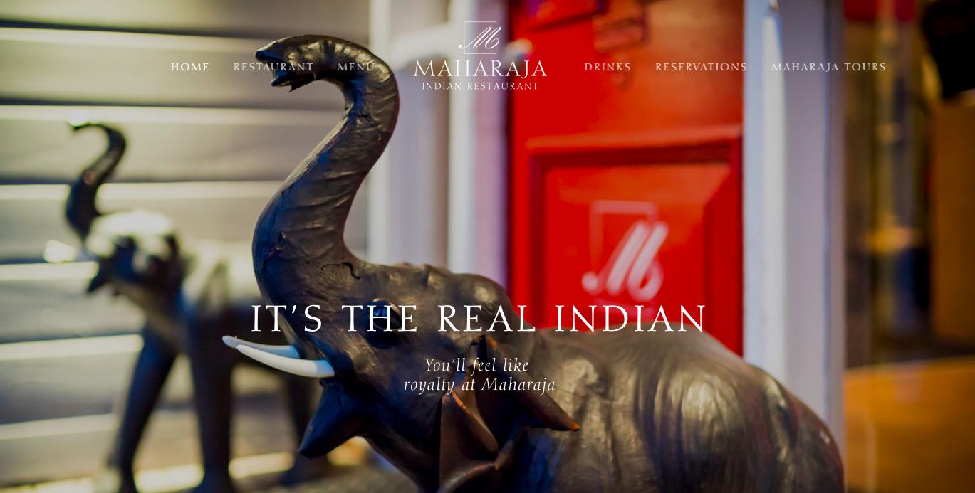 Maharaja Square Space Website