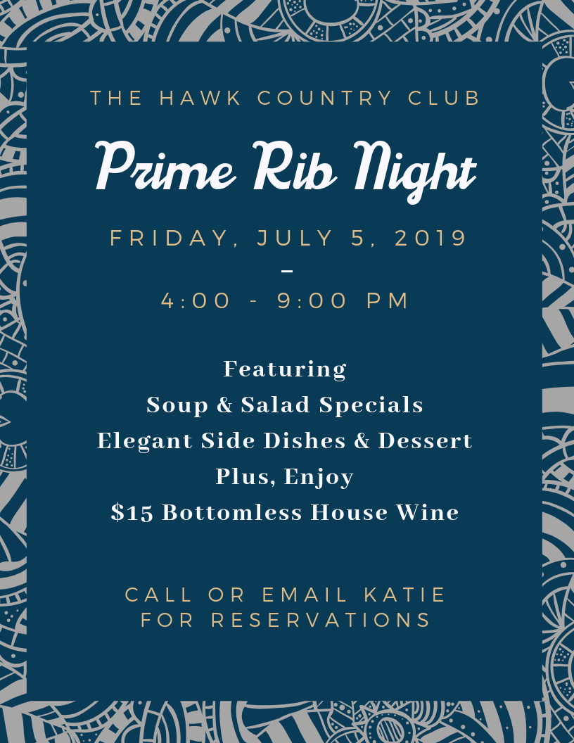 Hawk CC Prime Rib Night July flyer.png