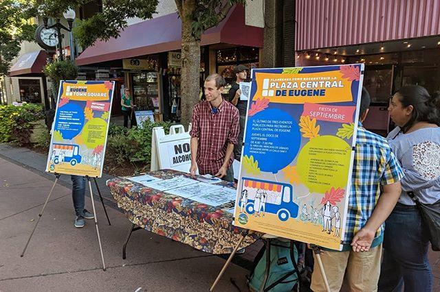 Fiesta Cultural is tonight! Stop by and say hello if you're near Kelsey Square! . #letsdesignets #eugenetownsquare #eugparkblocks #firstfriday #cityofeugene #getinvolved #oregon #eugeneoregon #downtown #fiestacultural